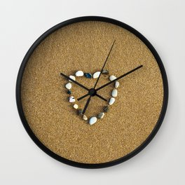 Pebble Heart Wall Clock