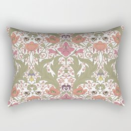 Spring Pattern with Poppy Flowers and Gladioli Rectangular Pillow