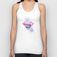 superman Tank Tops featuring Superman by emegi