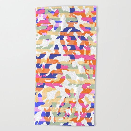 Cactus abstraction Beach Towel
