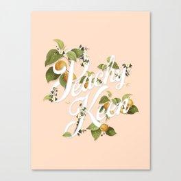 Peachy Keen : Peach Canvas Print