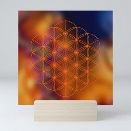 Sacred Geometry (Orange) Mini Art Print