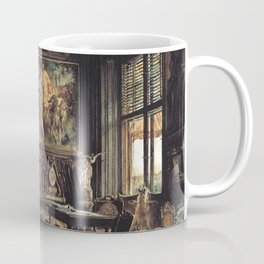 The Library In The Palais Dumba 1877 by Rudolf von Alt | Reproduction Coffee Mug
