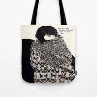 gorillaz Tote Bags featuring Why You Wanted To Be ? by Kaethe Butcher
