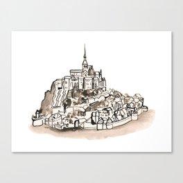 Le Mont St Michel Canvas Print