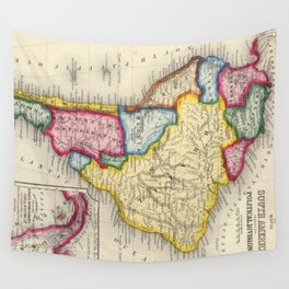 Vintage Map of South America (1860) Wall Tapestry