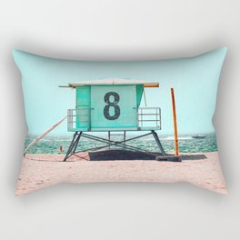 California Lifeguard Tower Rectangular Pillow