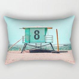 California Lifeguard Tower Rectangular Pillow
