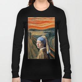 The Scream of Pearl Earring Girl Long Sleeve T-shirt