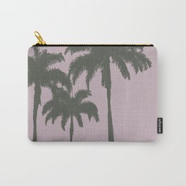 Palm trees illustration on pink background Carry-All Pouch