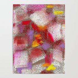 Grey mosaics Poster
