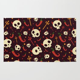 Skulls Hot Chili Peppers Hell Pattern Rug