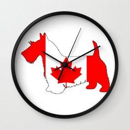 "Scottish Terrier ""Canada"" Wall Clock"