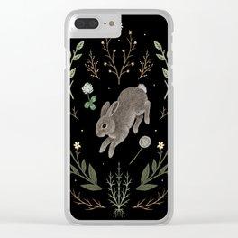 Hoppy Botanical Bunny Clear iPhone Case