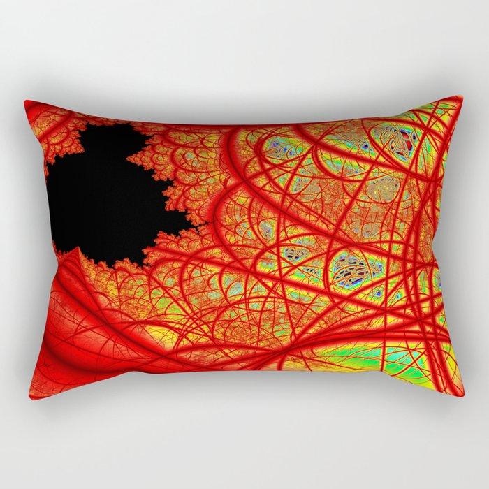 Rainbow Fractal 2 Rectangular Pillow