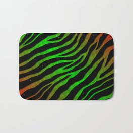 Ripped SpaceTime Stripes - Red/Green Bath Mat