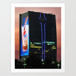 King's Road Tower in Jeddah, Saudi Arabia Art Print