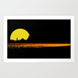 minimal sunset Art Print