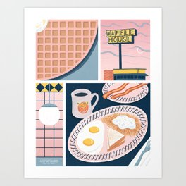 Waffle House Art Print
