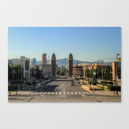 The Avenue of the Americas, Barcelona Canvas Print