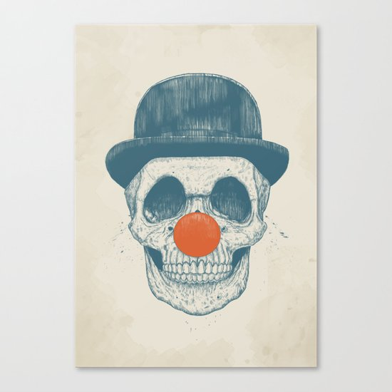 Dead clown Canvas Print