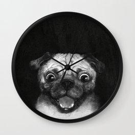 Snuggle pug Wall Clock