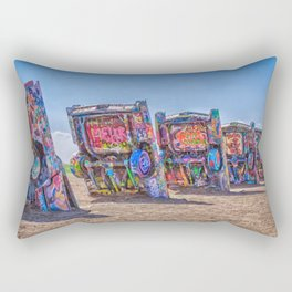 Cadillac Ranch Rectangular Pillow