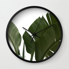 Travellers Palm Leaves 06 Wall Clock