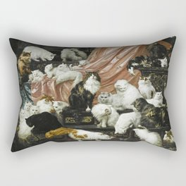 My Wife's Lovers, Carl Kahler, cats and kittens Rectangular Pillow