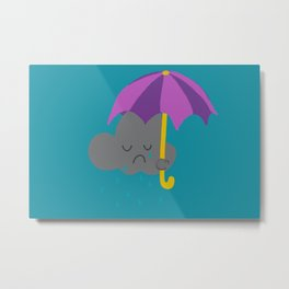 Sad rain cloud Metal Print