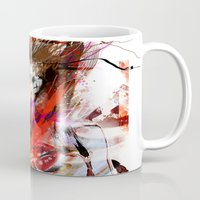 lara croft Mugs featuring miss lara croft by yossikotler