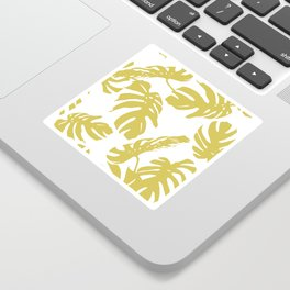 Simply Mod Yellow Palm Leaves Sticker