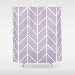 Herringbone Chevron (Lilac) Shower Curtain