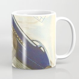 1930 Le Mans French Motor Auto Racing Vintage Poster Coffee Mug