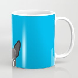 Boston Terrier Blue Coffee Mug