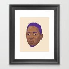 Purple Kendrick Framed Art Print