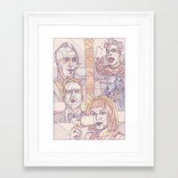 fifth element Framed Art Prints featuring The Fifth Element by La May
