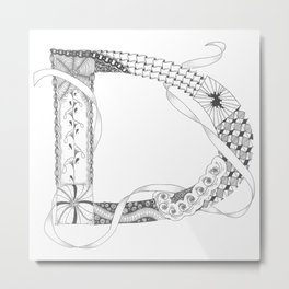 """Zenletter """"D"""" Metal Print"""