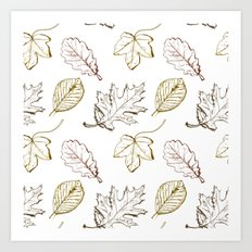 Leaves (browns) Art Print