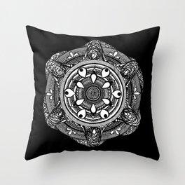 Water Mandala Throw Pillow