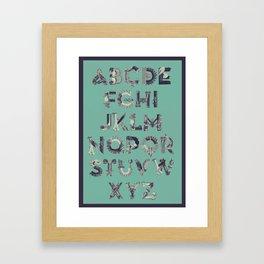 Re:Production Alphabet - ABC Framed Art Print