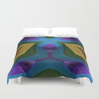 totem Duvet Covers featuring Totem by RingWaveArt