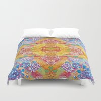 lsd Duvet Covers featuring LSD Flower by Zeus Design