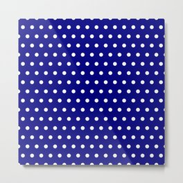 Small dots on navy blue Metal Print