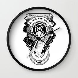 Sailor Mars art Nouveau Wall Clock