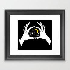 I heart the moon Framed Art Print
