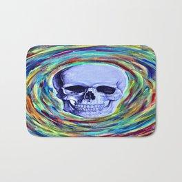 A Skull's Vortex Bath Mat