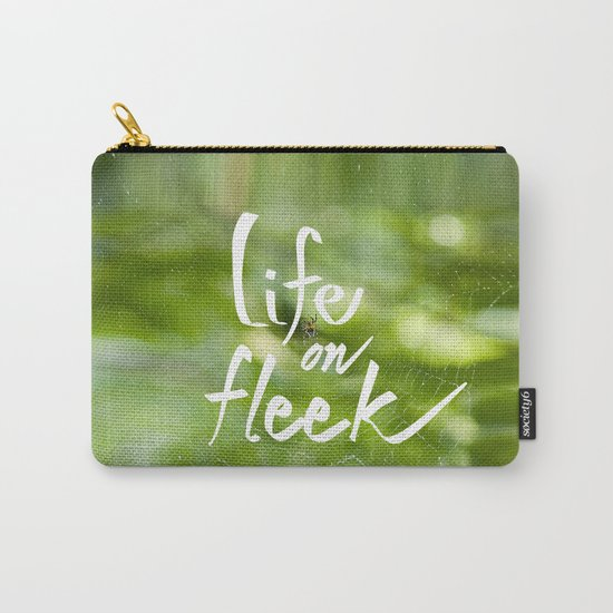 Life on Fleek - Spider Web in Woods Carry-All Pouch