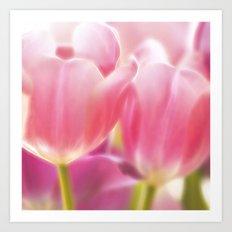 Tulips Glow Art Print