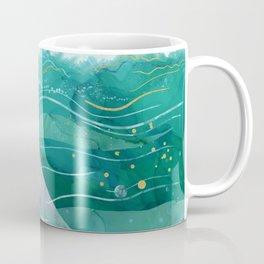 Blue Whale Song in the Emerald Ocean Coffee Mug